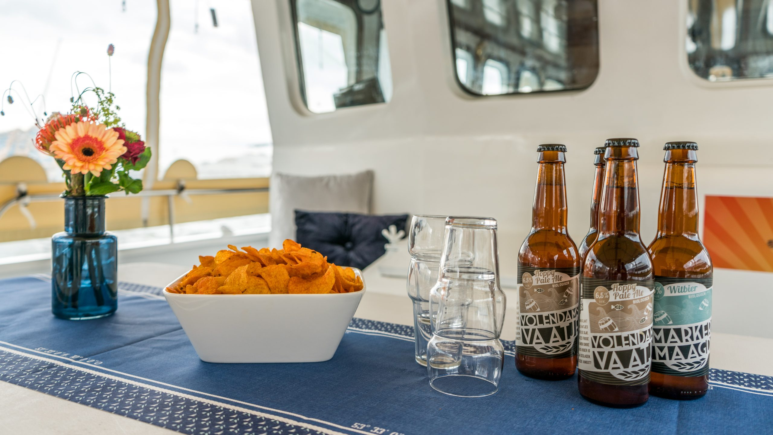 borrel op de boot