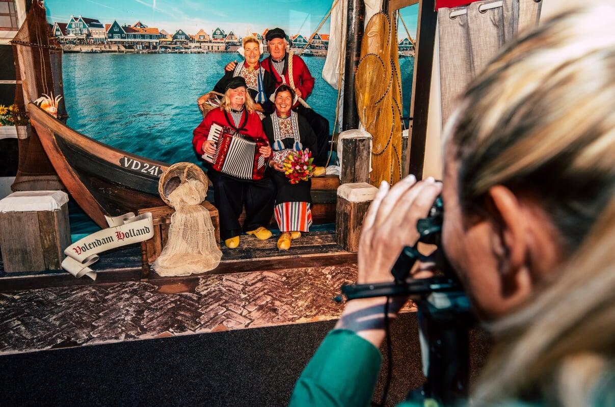 Foto in klederdracht in Volendam