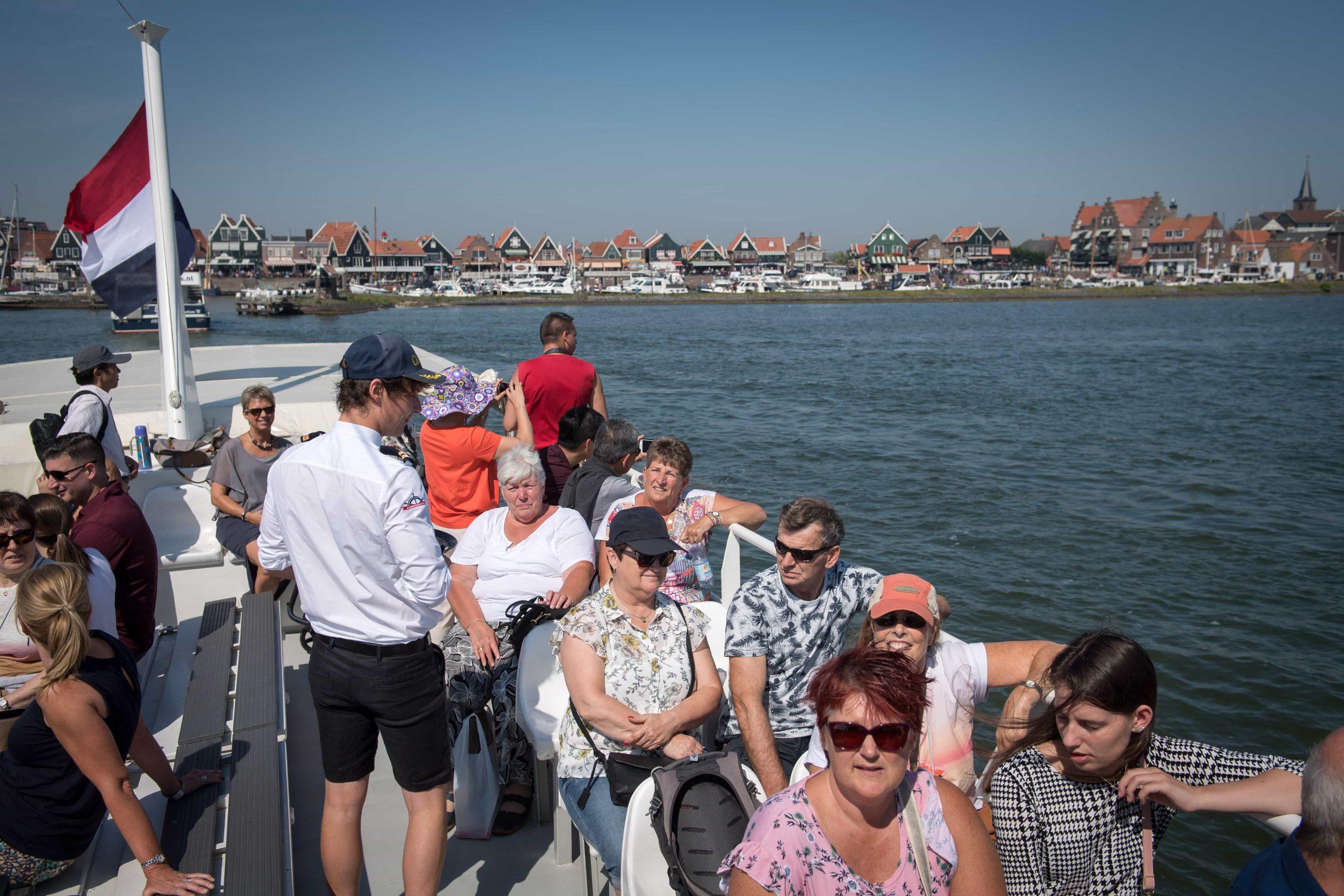 Passagiers op de boot