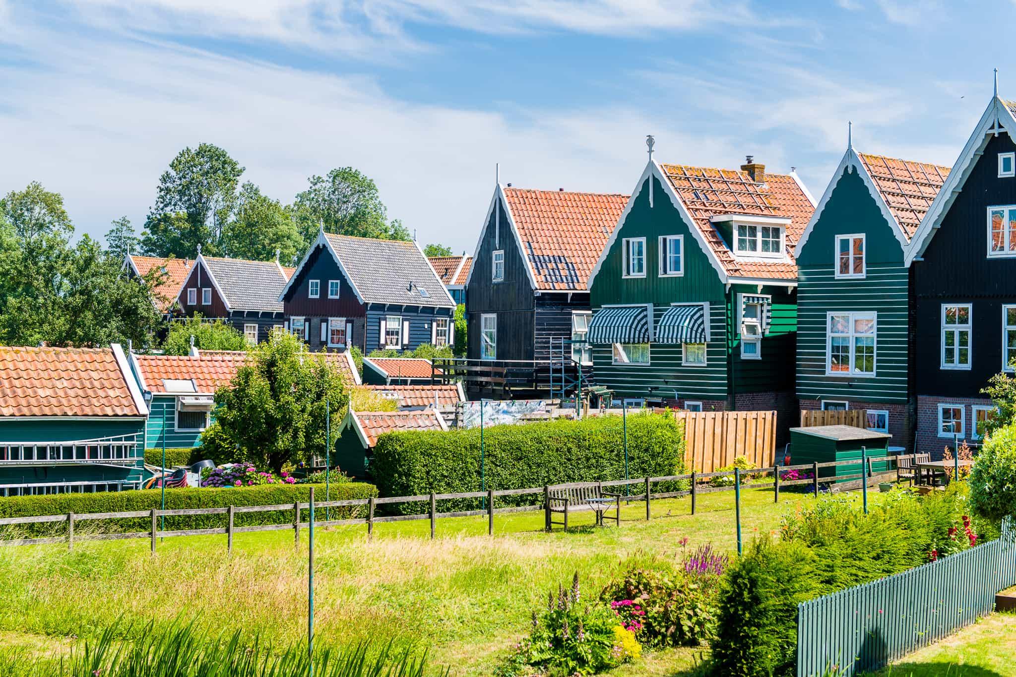 Groene Marker Huisjes bezoeken