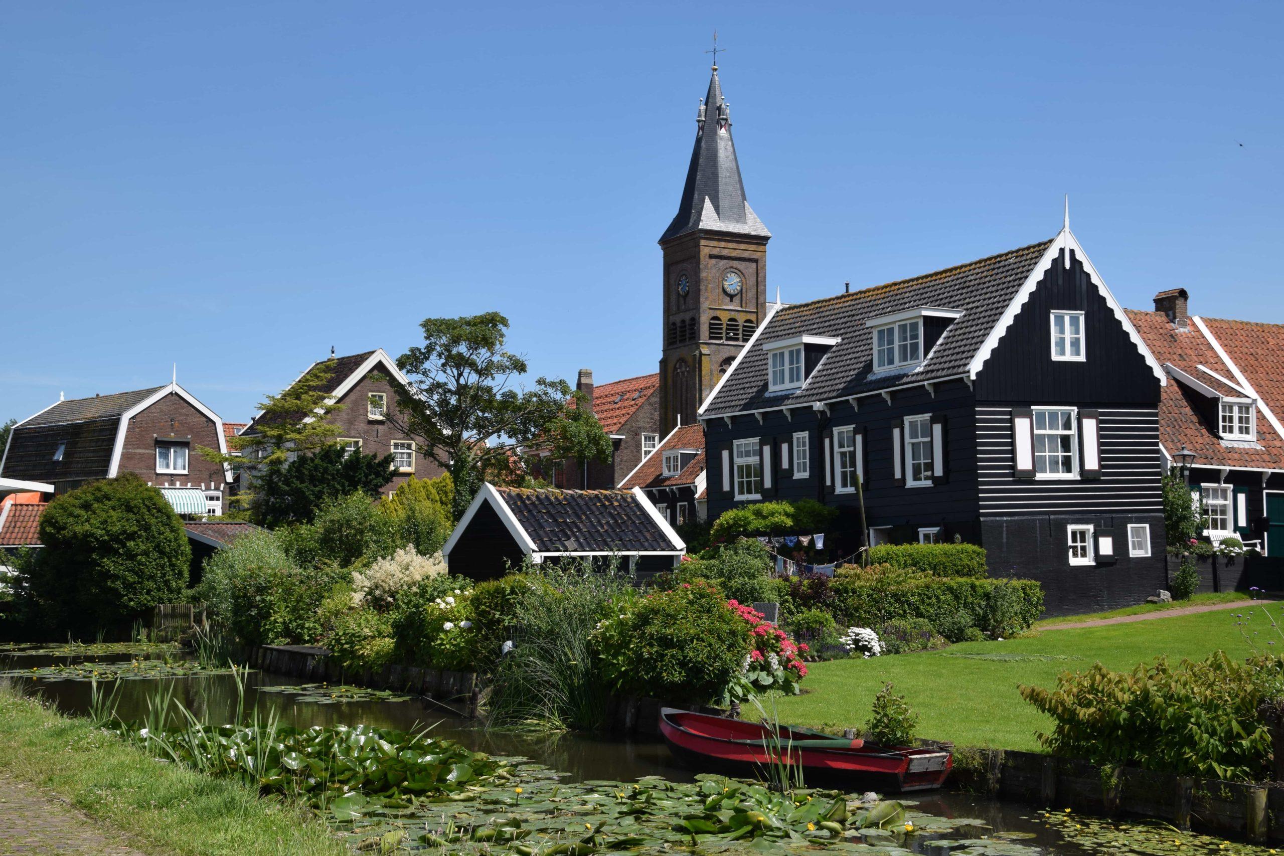 Kerk uitzicht in Marken